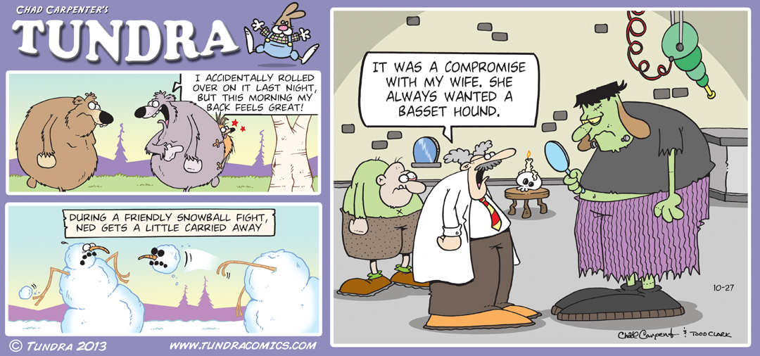 Since 1990 TUNDRA by Chad Carpenter .:. 907-441-1526 .:. tundra@ ...: tundracomics.com/171-october-2013-sunday-strips.html