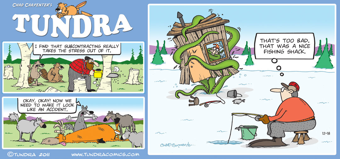 Since 1990 TUNDRA by Chad Carpenter .:. 907-441-1526 .:. tundra@ ...: tundracomics.com/151-december-2011-sunday-strips.html